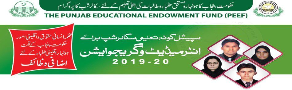 PEEF Educational Scholarship Inter & Graduation 2019